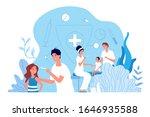 children vaccination.... | Shutterstock .eps vector #1646935588