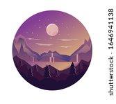 vector illustration of night... | Shutterstock .eps vector #1646941138