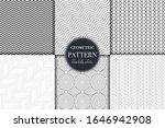 set of 6 black and white...   Shutterstock .eps vector #1646942908