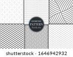 set of 6 black and white...   Shutterstock .eps vector #1646942932