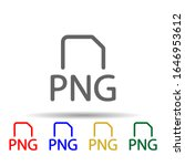 png file multi color style icon....