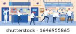 busy modern restaurant kitchen... | Shutterstock .eps vector #1646955865
