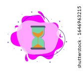 hourglass colored icon. simple...