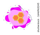 honeycombs colored icon. simple ...