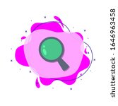 magnifier colored icon. simple...