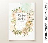 elegant wedding invitation card ... | Shutterstock .eps vector #1646972548
