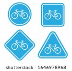 bicycle icon set. bike road... | Shutterstock .eps vector #1646978968