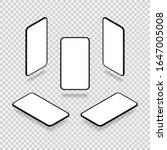 isometric smartphone mockup...