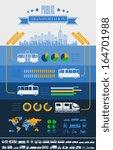 flat transportation infographic ... | Shutterstock .eps vector #164701988