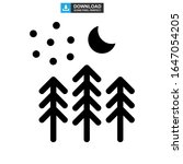 forest icon or logo isolated... | Shutterstock .eps vector #1647054205