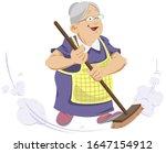 funny people. elderly woman...   Shutterstock .eps vector #1647154912