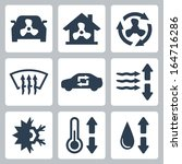 vector air conditioning icons...   Shutterstock .eps vector #164716286