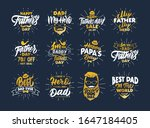 set of vintage happy father's... | Shutterstock .eps vector #1647184405