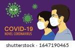 covid 19 novel coronavirus.... | Shutterstock .eps vector #1647190465