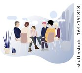 group therapy for addiction...   Shutterstock .eps vector #1647191818