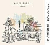 kanchipuram  kanchi   tamil... | Shutterstock .eps vector #1647207172