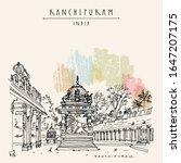 kanchipuram  kanchi   tamil... | Shutterstock .eps vector #1647207175