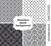 set of black and white patterns  | Shutterstock .eps vector #164721032