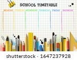 school timetable template for... | Shutterstock .eps vector #1647237928