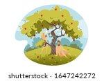 adam and eve  original sin ... | Shutterstock .eps vector #1647242272
