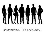 vector silhouettes of  men and... | Shutterstock .eps vector #1647246592