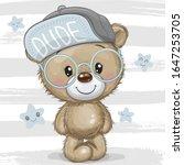 cute cartoon teddy bear with a... | Shutterstock .eps vector #1647253705