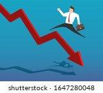 red arrow decline. businessman... | Shutterstock .eps vector #1647280048