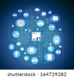 technology circuit board  | Shutterstock .eps vector #164729282