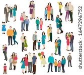 set of group of people  family | Shutterstock .eps vector #1647296752