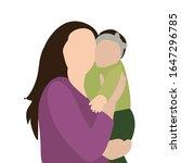 portrait family  flat style mom ... | Shutterstock .eps vector #1647296785