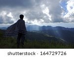 the landscape of the mountains | Shutterstock . vector #164729726