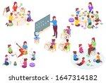 kindergarten isometric vector...   Shutterstock .eps vector #1647314182