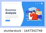 web page design with business... | Shutterstock .eps vector #1647342748