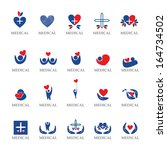 medical icons set   isolated on ... | Shutterstock .eps vector #164734502
