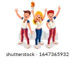 crowd of persons celebrate... | Shutterstock .eps vector #1647365932