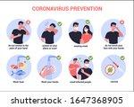 2019 ncov virus protection tips.... | Shutterstock .eps vector #1647368905
