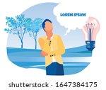 faceless cartoon thoughtful... | Shutterstock .eps vector #1647384175