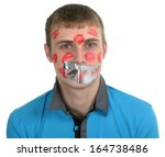 prisoner of love.portrait of...   Shutterstock . vector #164738486