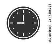 clock icon symbol. simple shape ...