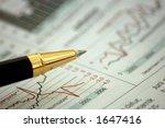 golden pen showing curves on... | Shutterstock . vector #1647416