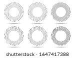 halftone circular dotted frames ...   Shutterstock .eps vector #1647417388