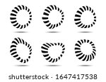 3d circular striped frames set. ...   Shutterstock .eps vector #1647417538