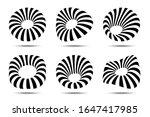 3d circular striped emblem set. ...   Shutterstock .eps vector #1647417985