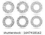 halftone circular dotted frames ...   Shutterstock .eps vector #1647418162