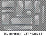 realistic set plates glass... | Shutterstock .eps vector #1647428365
