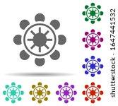 dharma wheel in multi color...