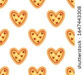 pizza heart. seamless vector...   Shutterstock .eps vector #1647443308