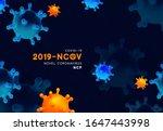 novel coronavirus  2019 ncov .... | Shutterstock .eps vector #1647443998
