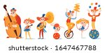 set of circus characters and... | Shutterstock .eps vector #1647467788
