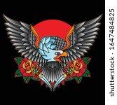 vector traditional tattoo... | Shutterstock .eps vector #1647484825